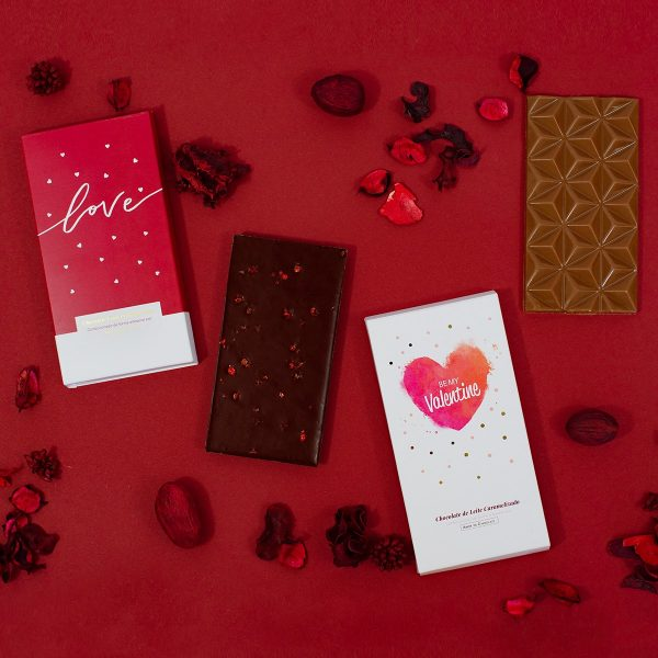 tablete chocolate dia dos namorados love ou valentine